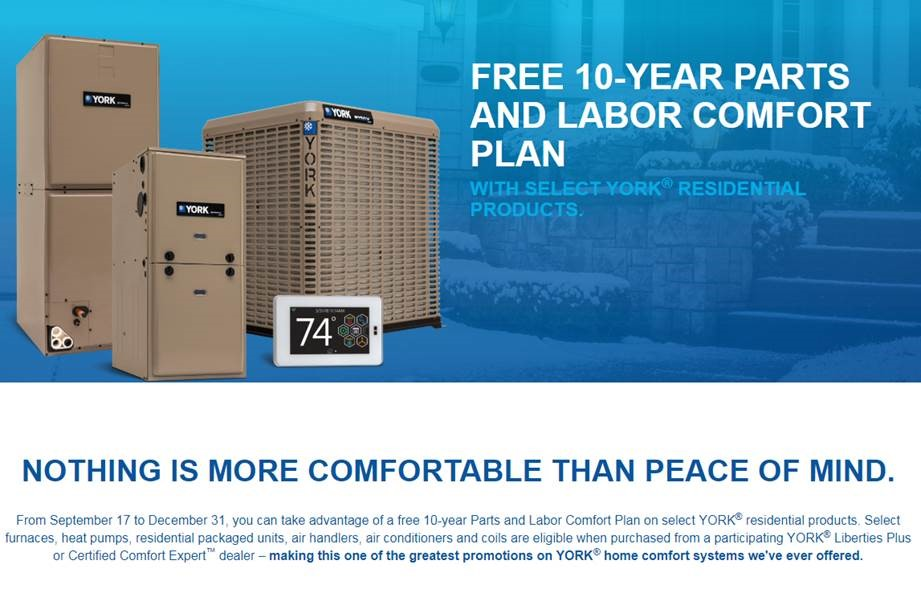 Free 10 Year Labor Warranty with a new York AC